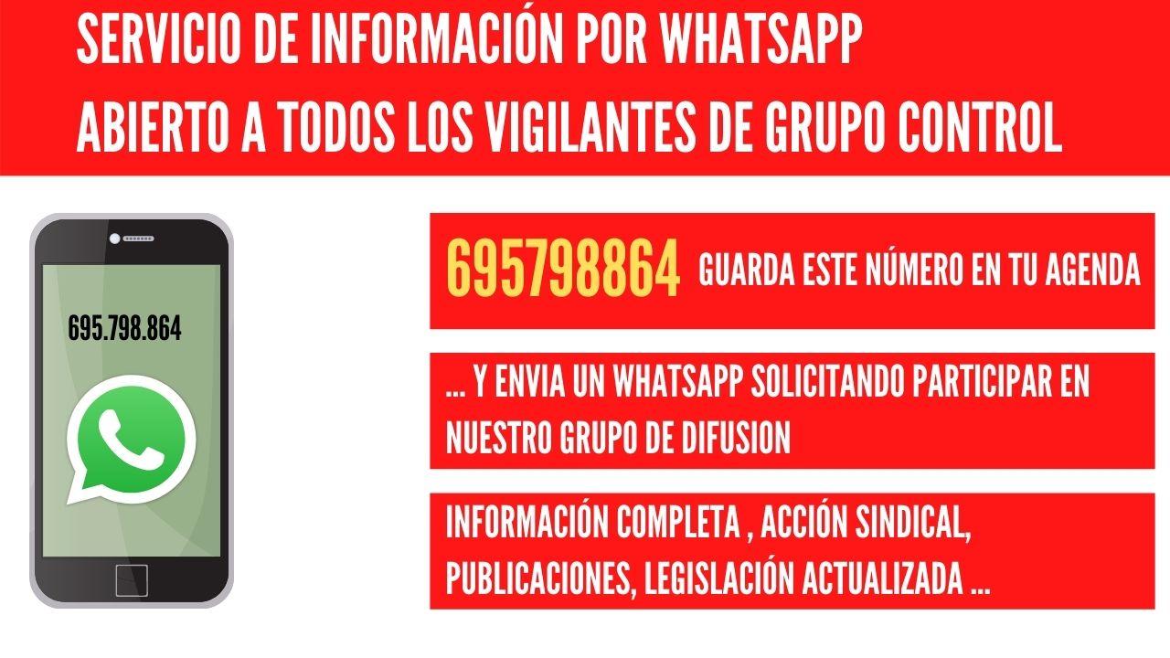 Whatsapp ugt grupo control